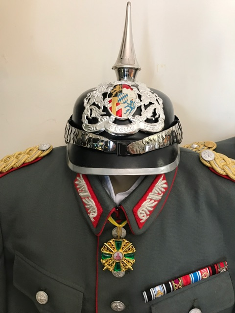REPLICA WW1 BAVARIAN GENERALS TUNIC, MEDALS AND ...